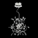 1541 Кристал 10хГ4/20Њ,Цхроме/Цлеар висечка светилка