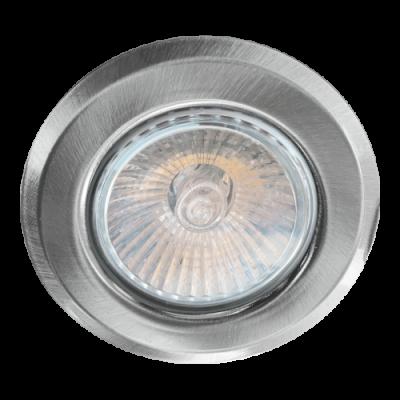 48615 ДАУНЛИГХТ ГУ10/50Њ,НИКЕЛ вградна светилка